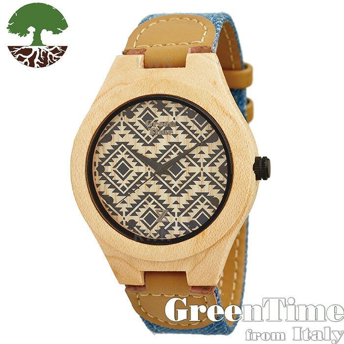 【GreenTime ベーシック ZW030G】 レディース カジュアル 腕時計 メープル 【正規輸入品】 「FSC認証」