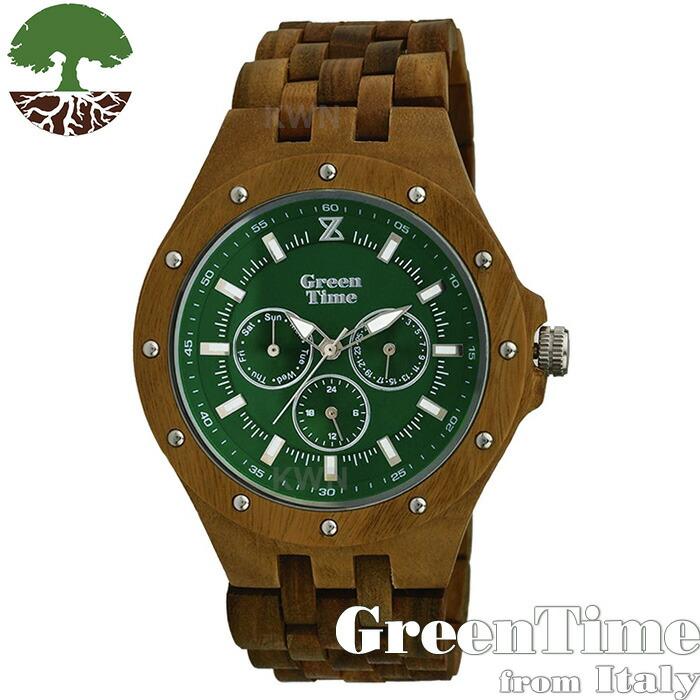 GreenTime 【SPORT ZW039A】 メンズ 腕時計 グリーン サンダルウッド 【正規輸入品】 「FSC認証」