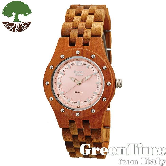 グリーンタイム 【GreenTime スポーツ ZW055A】 レディース 木製 腕時計 アカシアコア 【正規輸入品】 「FSC認証」