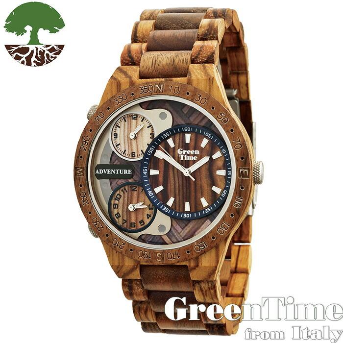 GreenTime グリーンタイム 【ZW078A】 メンズ 腕時計 木製 【正規輸入品】 Zzero orologi 「FSC認証」