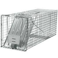 動物保護・捕獲器【アニマルトラップ ストロング】踏板式 捕獲かご D81.5×W26.5×H31.5cm
