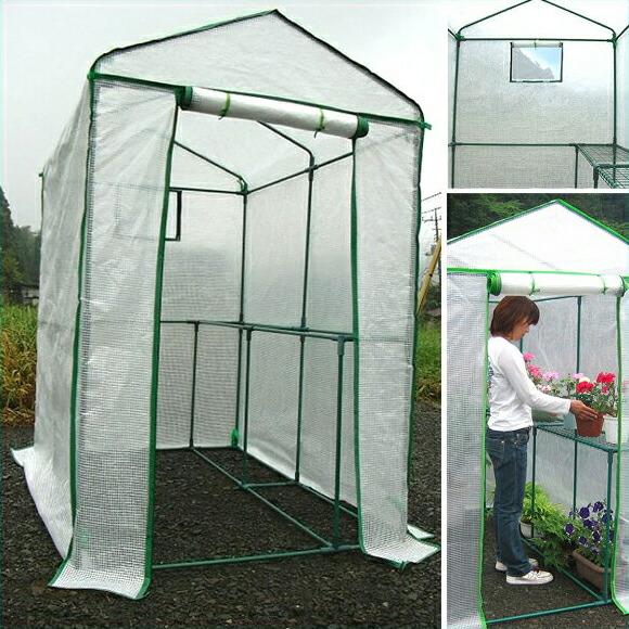 【家庭用 小型ビニールハウス】簡易温室 ※代引不可