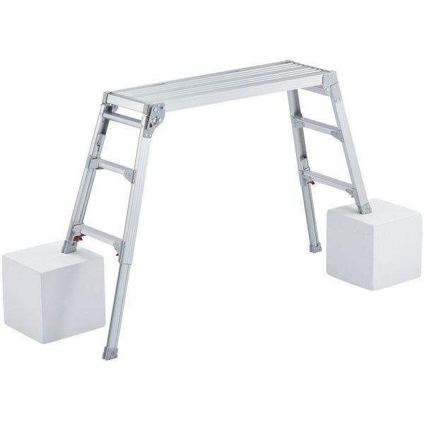 【高さ調整式 アルミ製 足場・洗車台(高さ65cm~96cm)】