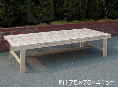 【木製(ひのき) 間伐縁台】ウッドデッキ ※代引不可