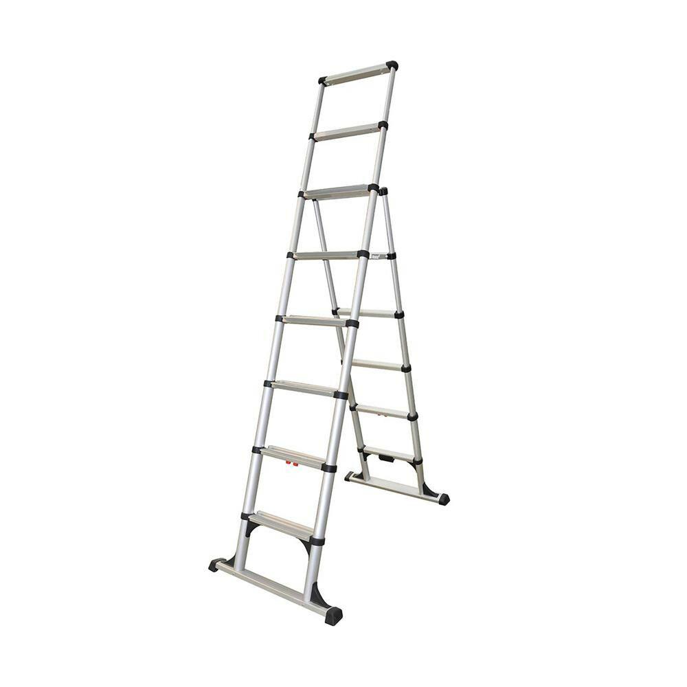 【アルミ製 伸縮脚立 H233cm】 はしご