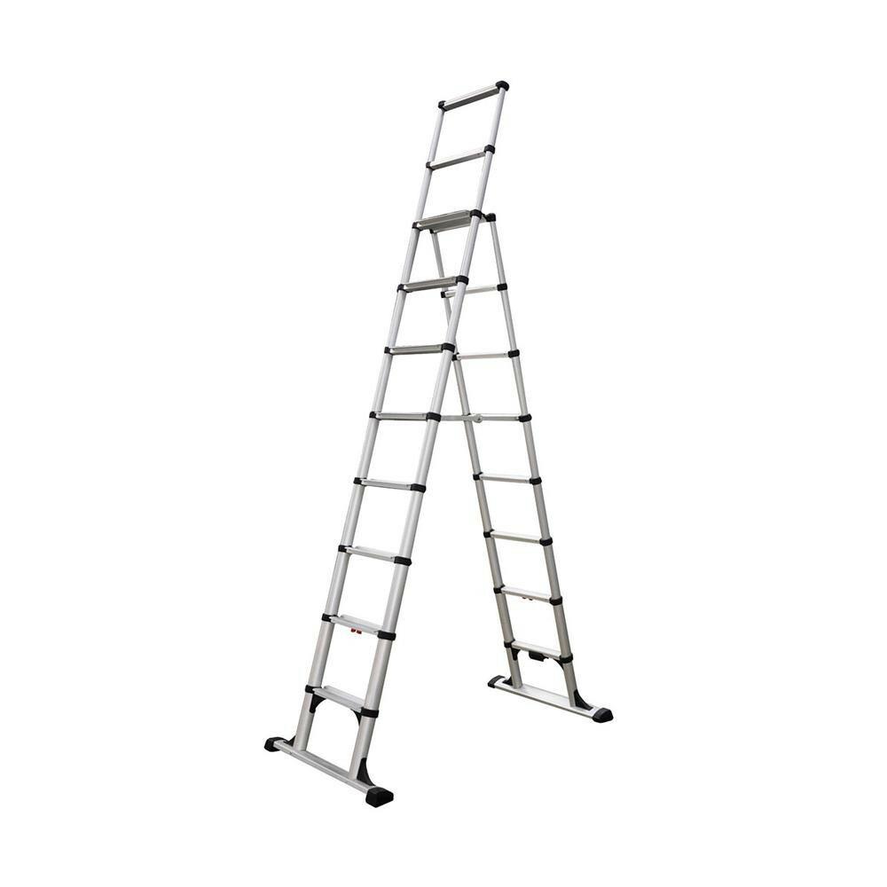 【アルミ製 伸縮脚立 H295cm】 はしご