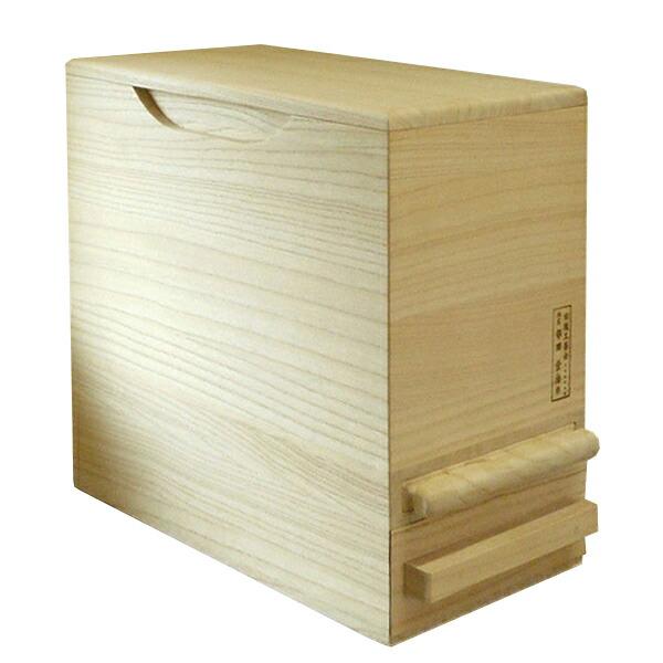 【桐の計量米びつ 5kg用】米櫃 桐箱