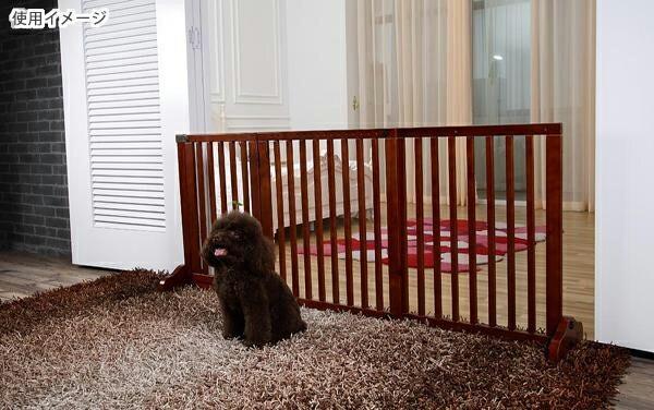 【木製ゲート 横幅調節可能タイプ】ペット 犬 侵入防止