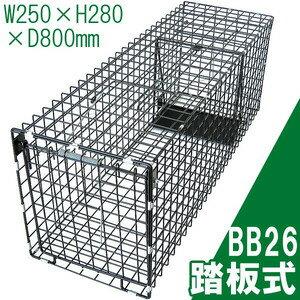 【アニマル捕獲器 踏板式 BB26】W250×H280×D800mm ※代引不可