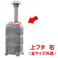 【焼却炉】 家庭用 山水籠部品 部品 上フタ 右 ※代引不可