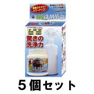 【SUPER洗剤革命 300g 5個セット】スプレーボトル付き!スーパー洗剤革命! ※代引不可