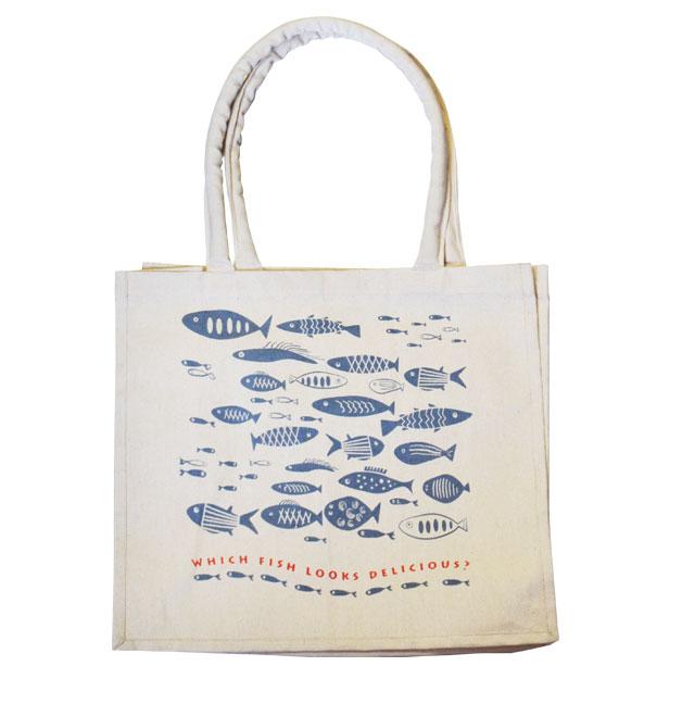 軽量大容量!! TDI キャンバス トートバッグ FISH BG1-00277