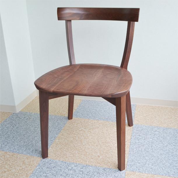「商品代引き不可」無垢 椅子 DC4チェア ウォールナッツ  アーリータイムスα製作 送料込み