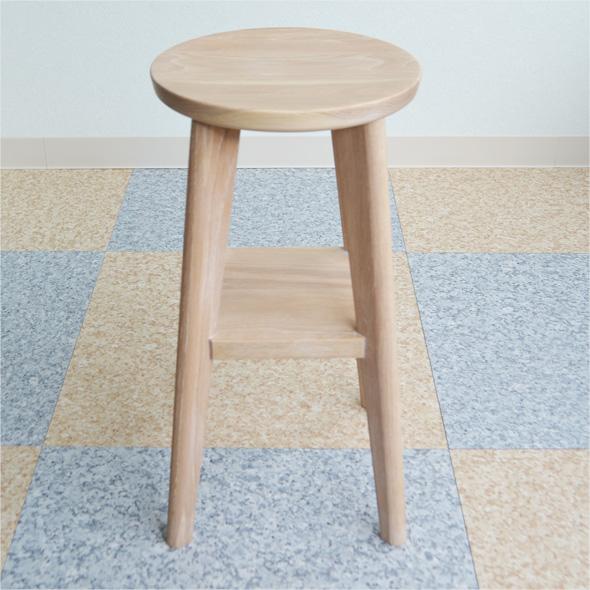 ※「商品代引き不可」無垢 椅子 Nordlys シリーズ φ240xH450 ナラ材 大雪木工製作 送料込み