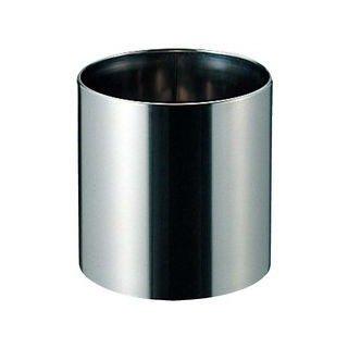 【受注生産品】EBM 18-8ステンレス製 丸型 鉢カバー 「プラントカバー(内カール)」直径33.4cm×高さ35cm