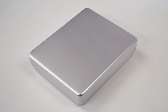 kitchen world tdi aluminum rectangular lunch box 140x115x 38 mm