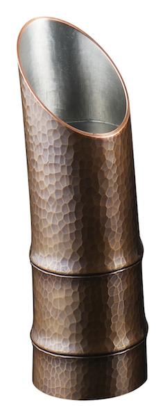 銅製 酒筒 竹型