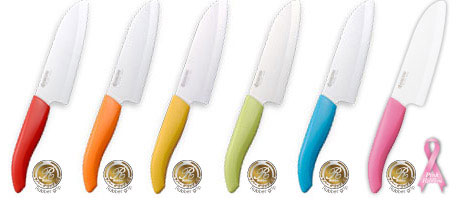 KYOCERA Ceramic Knife Santoku Rubber Grip