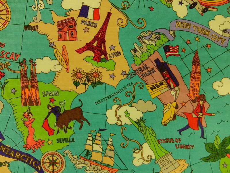 Kyoto kanariya shugeiten rakuten global market yuwa yuwa shopping entrance entrance fabric okamoto yoko the world map y0826149a the world gumiabroncs Gallery