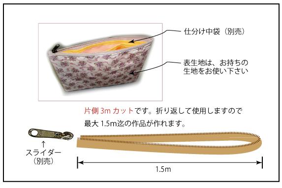 【楽天ランキング入賞商品】フリーファスナーL 〈3m巻〉5コイル コイルファスナー 全4色 片幅約17mm *スライダー(別売)はLのみ使用できます。