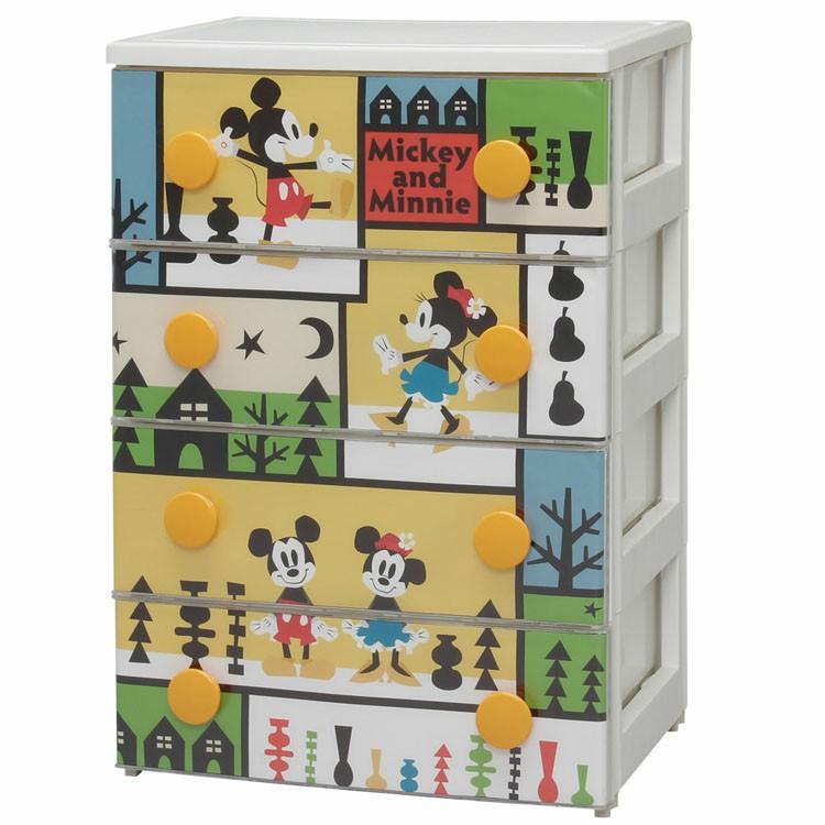 おもちゃ 収納 ミッキー チェスト 4段 幅55cm CHG-T554 アイリスオーヤマ 送料無料 完成品 キッズ チェスト ディズニー 引き出し タンス キャラクター 子供 服 部屋 キッズ収納 衣装ケース かわいい 新生活【Disneyzone】