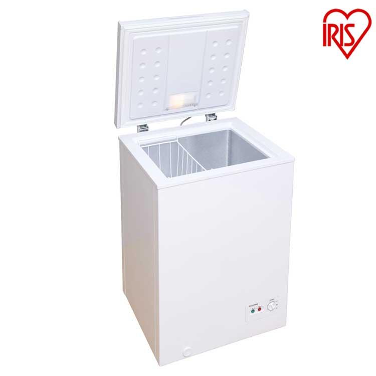 チェストフリーザー 100L ホワイト ICSD-10A-W送料無料 冷凍庫 フリーザー 冷蔵庫フリーザー ストッカー 氷 食材 食品 食糧 冷凍 冷凍食品 保存 ストック キッチン家電 上開き アイリスオーヤマ