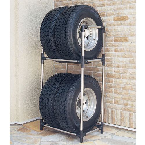 Inset is assembling a simple tire rack screw required. Durable rust resistant stainless steel pipe specifications. RV tires for the car can hold one minute ... : outdoor tire storage  - Aquiesqueretaro.Com