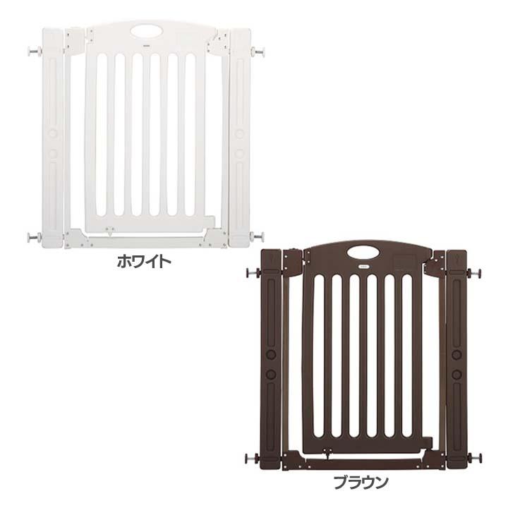 階段上で使えるゲート 63701送料無料 ベビーゲート げーと 赤ちゃん ベビー家具 ホワイト・ブラウン【D】