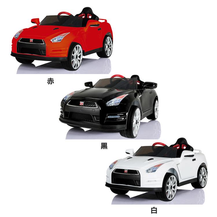 電動乗用カー nissanGTR ABL-1603送料無料 おもちゃ 玩具 乗り物 子供用 キッズ用 男の子 女の子 自動車 充電 電動 SIS 赤 黒 白【D】