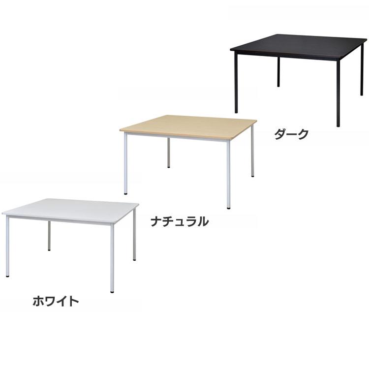 RFシンプルテーブル W1200×D1200 RFSPT-1212WH送料無料 高さ70cm 幅120 丸角 シンプル キズに強い 調節可能 会社 事務用品 会議 アール・エフ・ヤマカワ ホワイト ナチュラル ダーク【D】