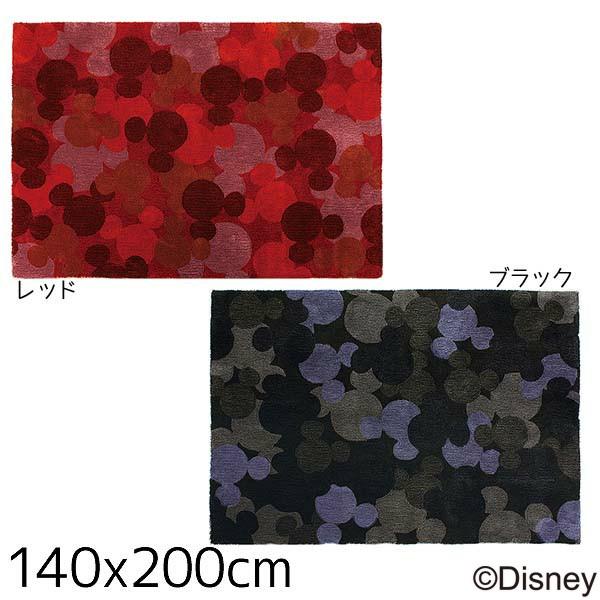 【送料無料】【TD】ミッキー サンディランプスラグ DRM-4002 140×200cmレッド・ブラック 敷物 絨毯 マット ディズニー キャラクター 【スミノエ】【Disneyzone】