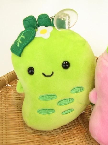 ボールチェーン吸盤付き 新作送料無料 わびさびわさびちゃんグリーン 日本正規品