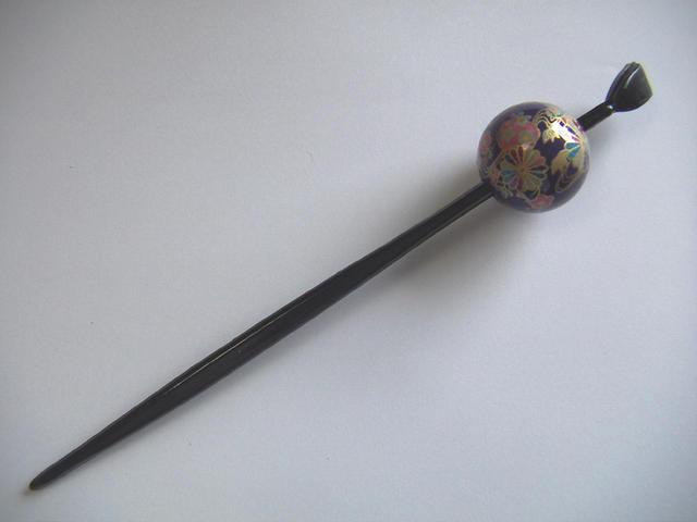 Beijing Jade Hairpin (Maki-e type) purple / classical