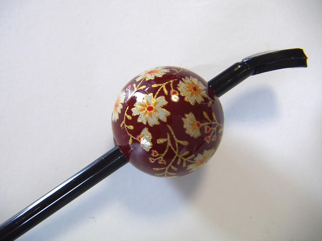 Beijing Jade Hairpin (lacquer type, Jade Hairpin) red beans and florets ★ kuroneko non ★
