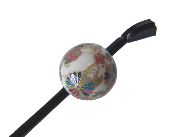 激安卸販売新品 Cool Japan 日本製 京の玉かんざし 蒔絵タイプ 四君子 玉簪 白 送料無料でお届けします