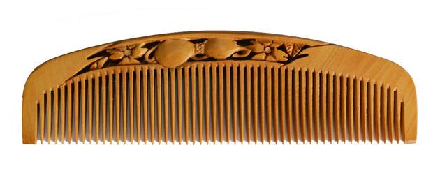 【あかね・すかし彫り】オリジナルとき櫛 瓢箪 4.5寸/並歯
