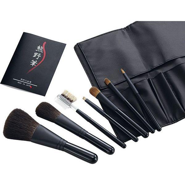 ◎熊野化粧筆セット 筆の心 7本セット K307【メーカー直送の場合あり】