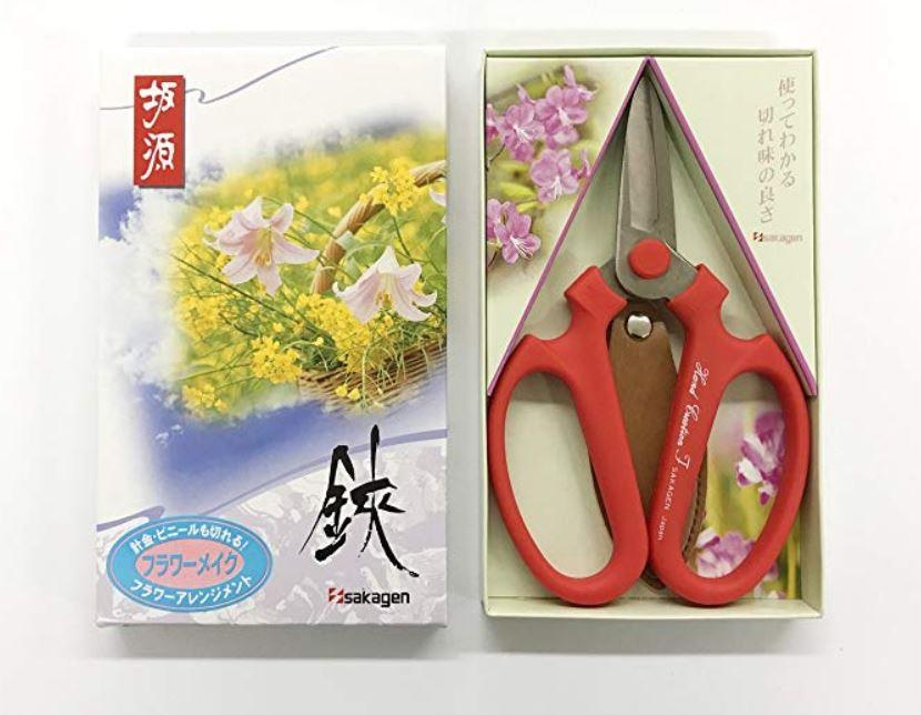 Sakagen Hand Creation Florist Shears Ikebana Scissors F-170 Green