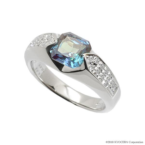 アレキサンドライト リング 指輪 プラチナ プリンセスエメラルドカット 6月誕生石 プレゼント クレサンベール 京セラ