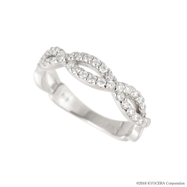 ダイヤモンド リング 指輪 プラチナ 0.35カラット トリプルクロス プレゼント 天然石 京セラ