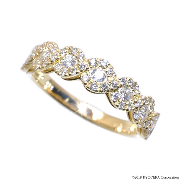 ダイヤモンド リング 指輪 K18イエローゴールド 0.5カラット クラシカルデザイン プレゼント 天然石 京セラ