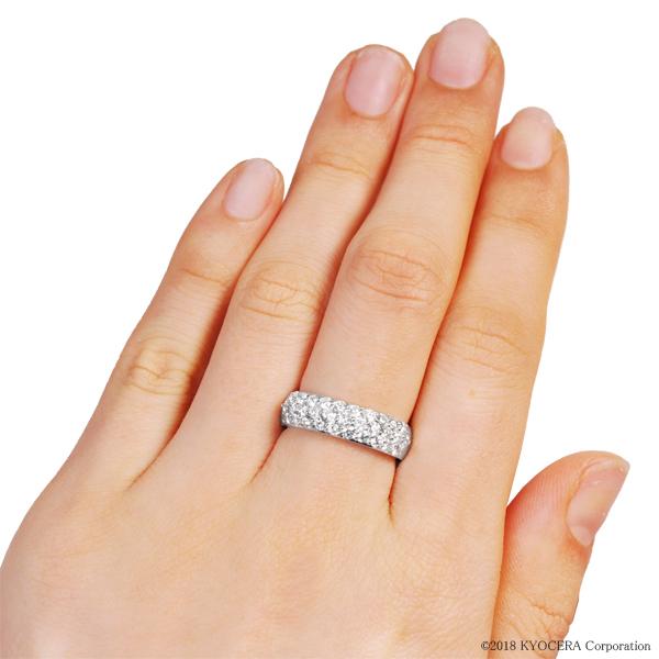 ダイヤモンド リング プラチナ 1.00カラット パヴェ  プレゼント 天然石 京セラ