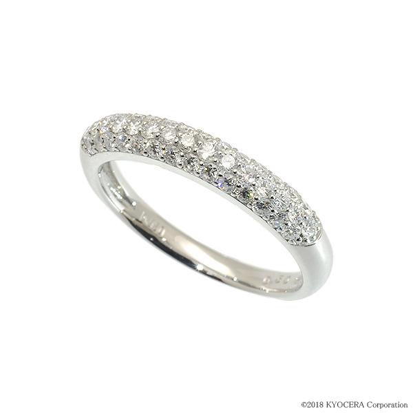 人気が高い ダイヤモンド リング 指輪 プラチナ 0.50カラット パヴェ プレゼント 天然石 京セラ, NO-MU-BA-RA 35971b7e