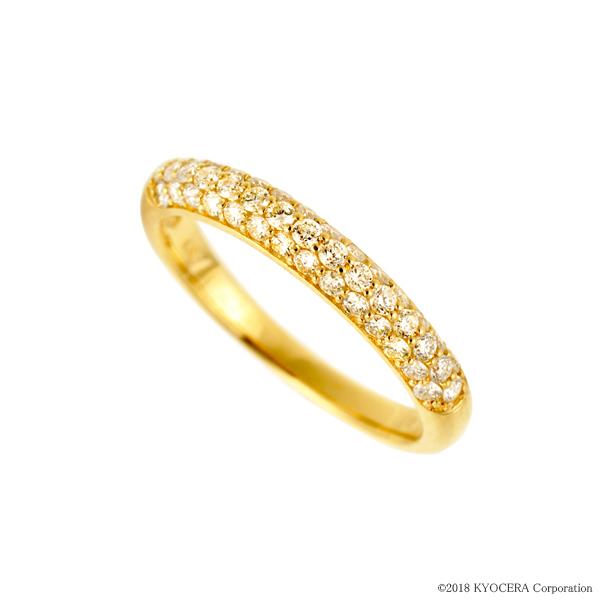 お歳暮 ダイヤモンド リング 指輪 K18イエローゴールド 0.50カラット パヴェ プレゼント 天然石 京セラ, 住宅設備のプロショップDOOON!! 5fbd5fe5