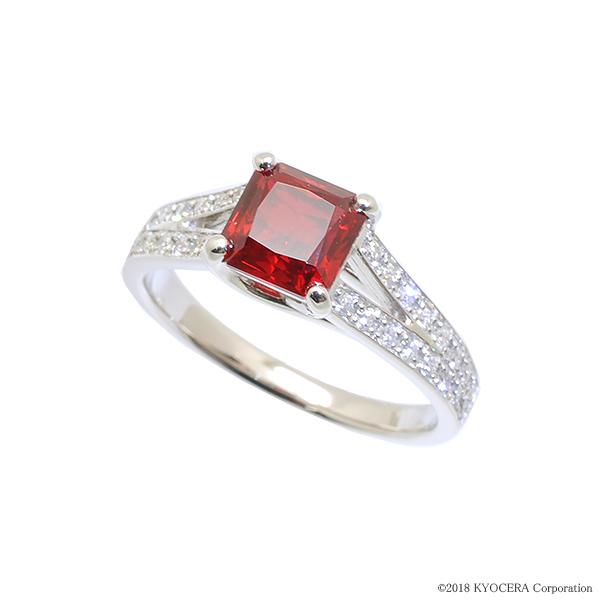 ルビー リング 指輪 プラチナ 7月誕生石 プレゼント クレサンベール 京セラ
