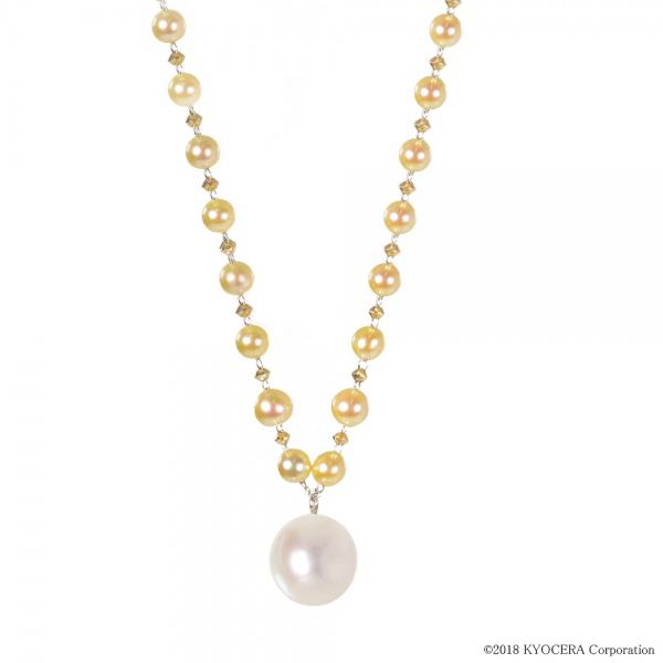 真珠 パール ベビーパール ネックレス K14イエローゴールド K14ホワイトゴールド アコヤ真珠 6月誕生石 プレゼント 京セラ
