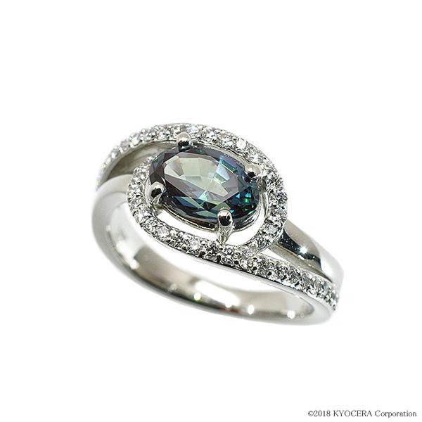 アレキサンドライト リング 指輪 プラチナ 1カラットUP 一粒 オーバル 一粒 6月誕生石 プレゼント クレサンベール 京セラ