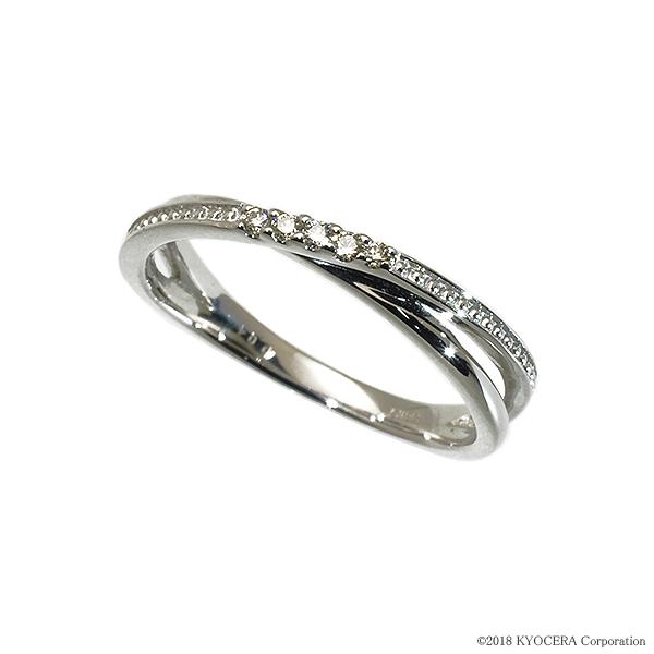 ダイヤモンド リング 指輪 プラチナ 合計0.05カラット プレゼント 天然石 京セラ