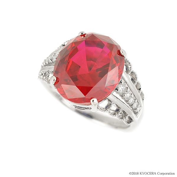 ルビー リング 指輪 プラチナ 7.2カラット オーバル ミル打ち 7月誕生石 プレゼント クレサンベール 京セラ