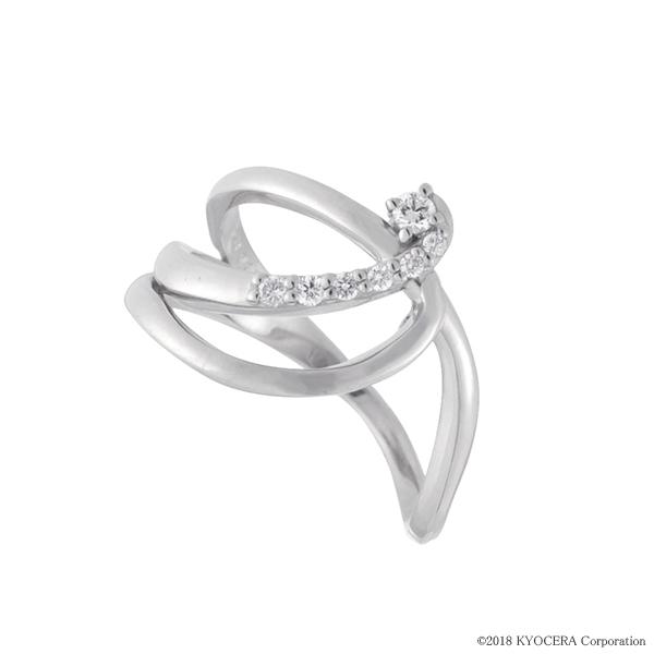 ダイヤモンド リング 指輪 プラチナ インデックス ティアラ 合計0.07カラット 4月誕生石 天然石 プレゼント 京セラ